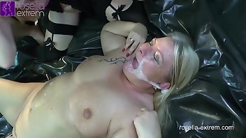 Creampie Eating MILF Gagging Pissing Bareback