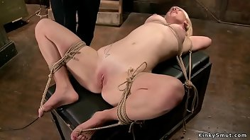 Hogtied Dildo Hardcore Rough Gagging