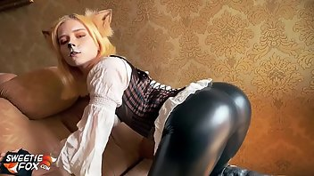 Latex Teen Blonde Babe