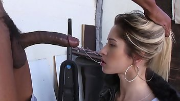 3D Blonde Interracial Blowjob