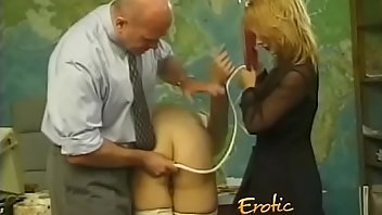 Ballbusting Stockings Blonde Spanking