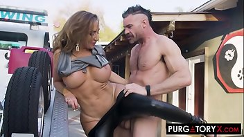 Latex Hardcore MILF Blowjob Doggystyle