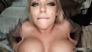 Dirty Talk Blonde Babe Blowjob