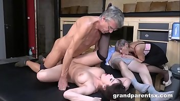 Grandpa Doggystyle Shaved Fingering