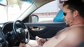Car Cumshot Sperm Blonde