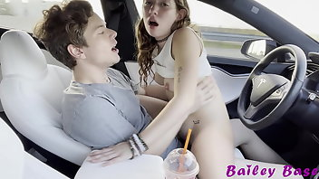 Car Hardcore Brunette Skinny