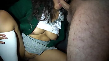 Uniform Latina Brunette Small Tits