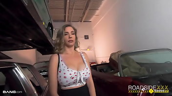 Whipping Blonde Pornstar Blowjob