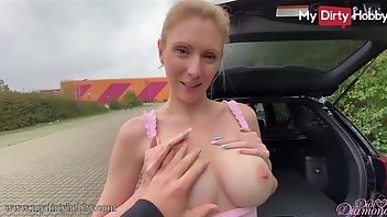 Retro Blonde Outdoor Blowjob