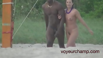 Beach Interracial MILF Wife