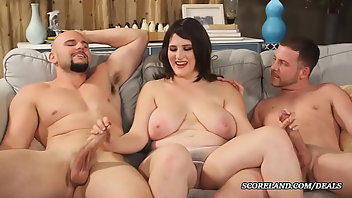 MMF Boobs Blowjob Threesome